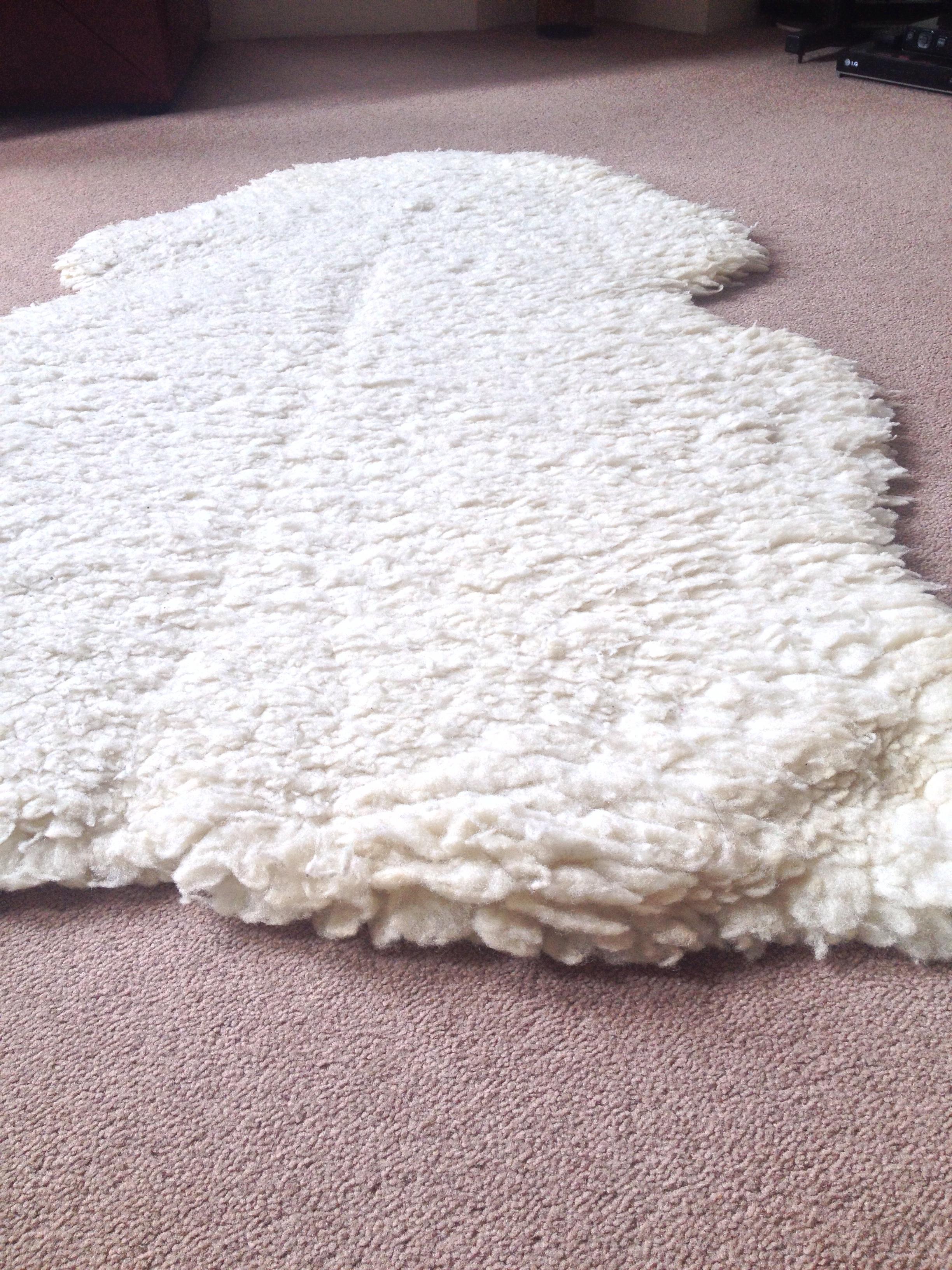 Sheepskin Wool Rug Roselawnlutheran